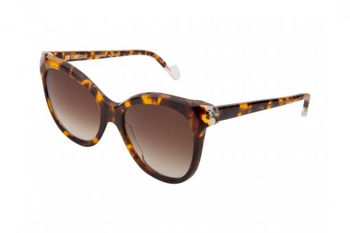 משקפי שמש לנשים דגם אובר סייז חתולי בגוון מנומר ועדשות חומות