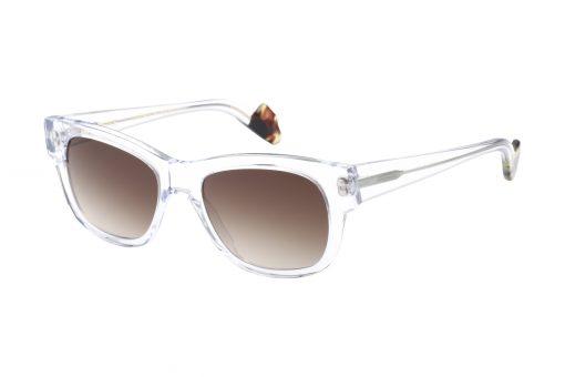 משקפי שמש לנשים דגם מרובע בגוון מנומר ועדשות בגוון חום