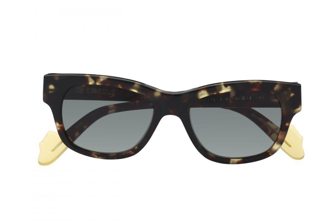 משקפי שמש לנשים דגם מרובע בגוון מנומר ועדשות כהות