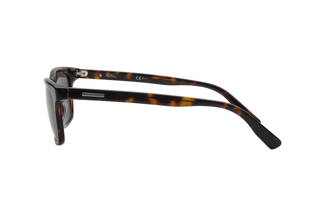 משקפי שמש גבריים מלבניים, מסגרת וזרועות אצטט דקות בגימור מנומר ועדשות חומות