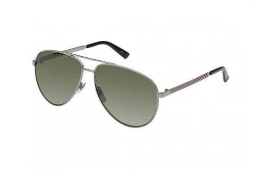 משקפי שמש גוצ'י בדגם טייסים קלאסי בגוון אפור ועדשות תואמות