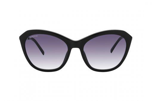 משקפי שמש מבית SWAROVSKI בדגם אובר סייז חתולי בגוון שחור וזרועות דקורטיביות משובצות אבני סוורובסקי