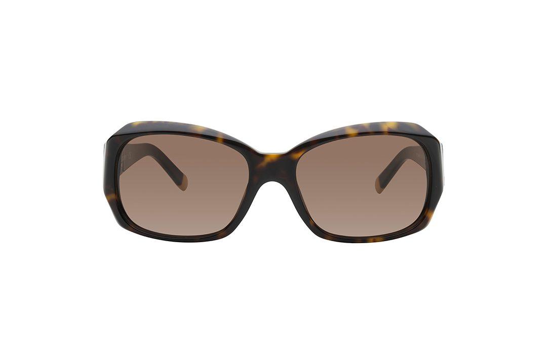 משקפי אוברסייז מלבניים, מסגרת וזרועות בגוון מנומר, עדשה בגוון חום