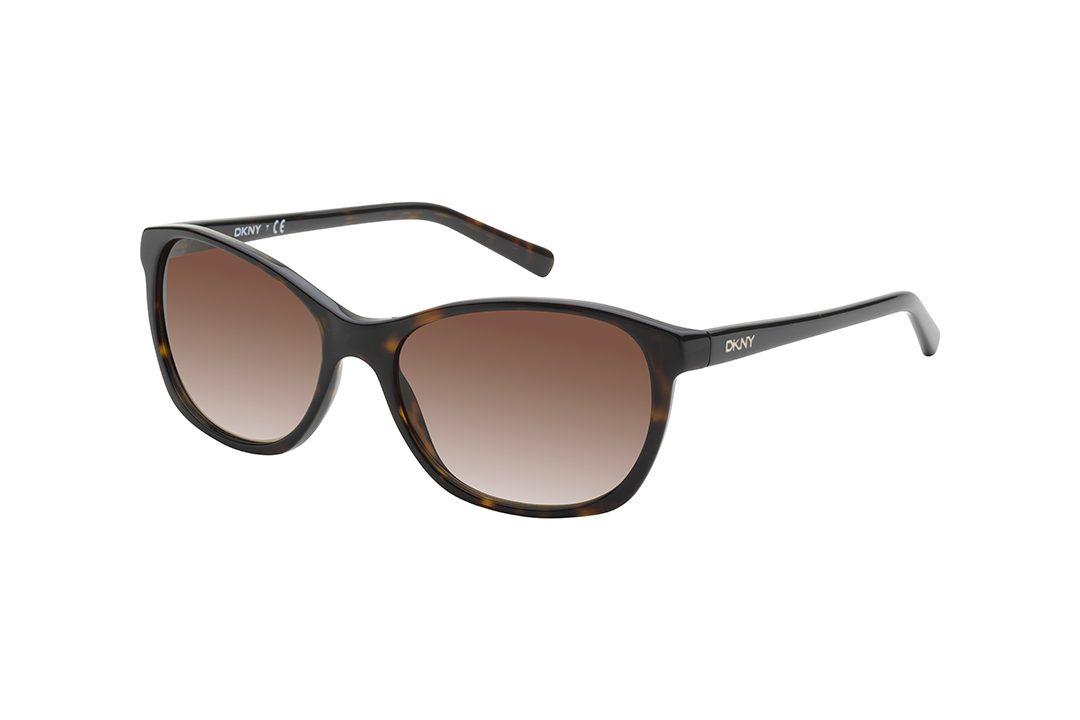 משקפי שמש אובר סייז אליפטיים עם נטייה חתולית, מסגרת וזרועות דקות בגוון מנומר כהה, עדשות בגוון חום
