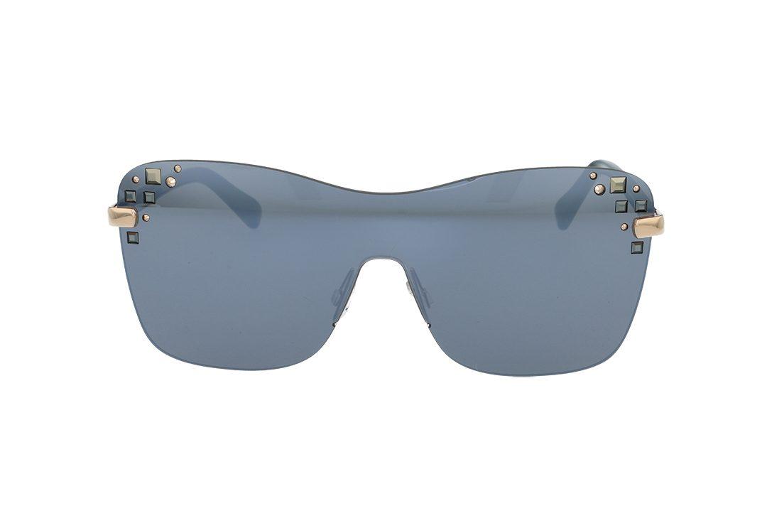 משקפי שמש מבית Jimmy Choo בדגם מסכה נשי עם אבני חן בצידי הפרונט