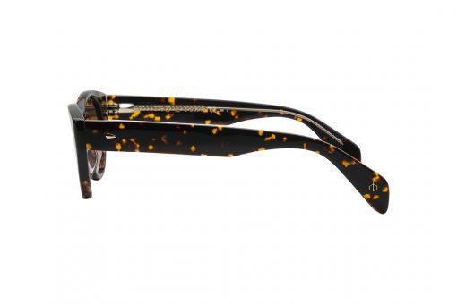 משקפי שמש חתוליים, חזית וזרועות במראה מנומר, עדשות בצבע חום