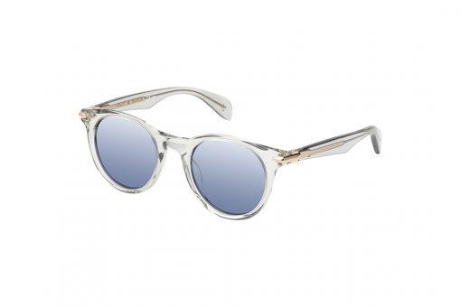 משקפי שמש מבית Rag & Bone במסגרת עגולה בגוון שקוף עם קישוט צד בגוון זהב