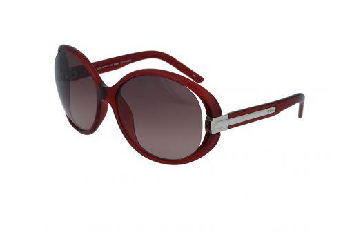 משקפי שמש מבית FENDI בדגם אובר סייז עגול במראה רטרו ועדשות בגוון חום