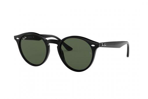 משקפי שמש מבית RAY-BAN בדגם יוניסקס עגול ועדשות בגוון ירוק רייבן