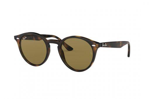 משקפי שמש מבית Ray Ban בדגם עגול נשי בגוון מנומר ועדשות בגוון חום