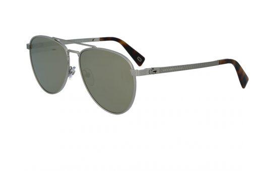משקפי שמש מבית Marc Jacobs בדגם טייסים עם גשר אף כפול ועדשות מראה בגוון זהוב