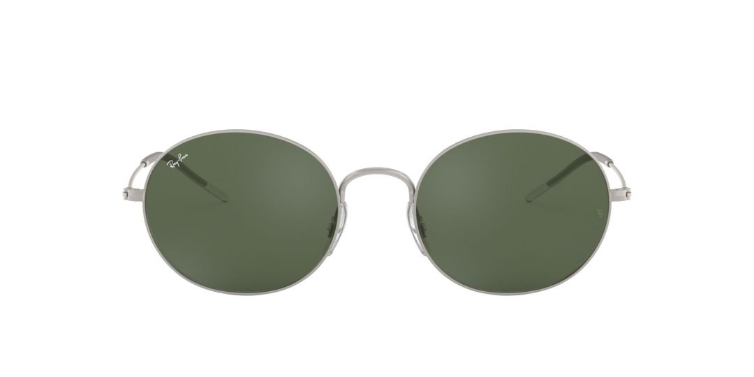 משקפי שמש RAY-BAN בדגם יוניסקס קלאסי עגול עדשות בגוון ירוק רייבן