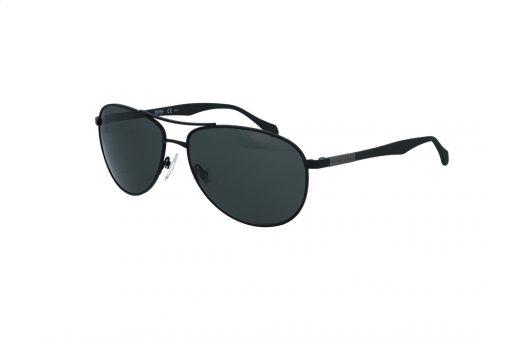 משקפי שמש מבית BOSS בדגם טייסים גברי קלאסי עם עדשות בגוון ירוק כהה