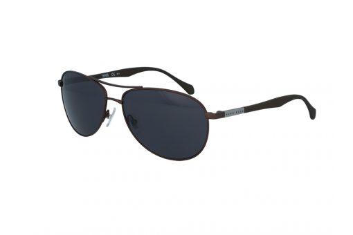 משקפי שמש מבית BOSS בדגם טייסים גברי קלאסי עם עדשות בגוון שחור