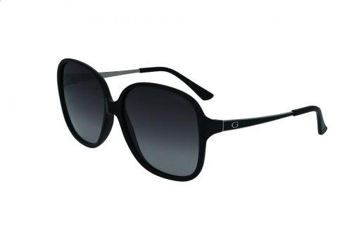 משקפי שמש מבית GUESS בדגם אובר סייז נשי קלאסי בגווני שחור וכסף