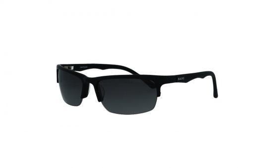 משקפי שמש מבית BHPC  במסגרת מרובעת בגוון שחור - חצי מסגרת  עם עדשות בגוון אפור מדורג