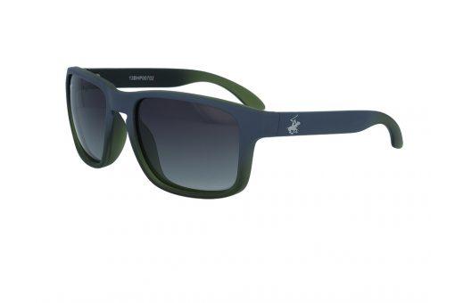 משקפי שמש מבית BHPC במסגרת מרובעת בגוון אפור ירוק עם עדשות אפור מדורג