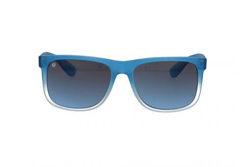 משקפי שמש מבית ERROCA EYEWEAR במסגרת מרובעת גברית בגווני כחול ולבן חלבי ועדשות בגוון כחול