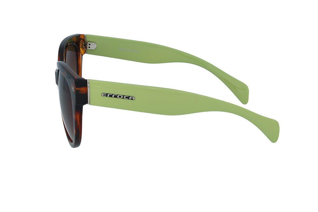 משקפי שמש מבית ERROCA EYEWEAR במסגרת מנומרת בשילוב ירוק עם עדשות חום מדורג