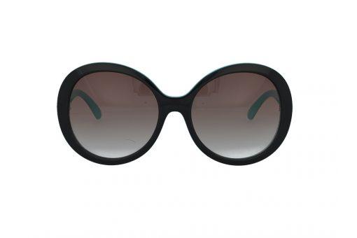 משקפי שמש מבית ERROCA EYEWEAR במסגרת אובר סייז עגולה בגוון שחור בשילוב טורקיז עם עדשות אפורות מדורגות