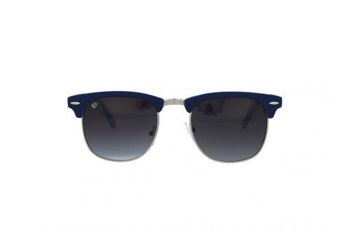 משקפי שמש מבית ERROCA EYEWEAR במסגרת בגוון כחול-תכלת בעלות עדשה אפור מדורג בעיצוב קלאב-מאסטר