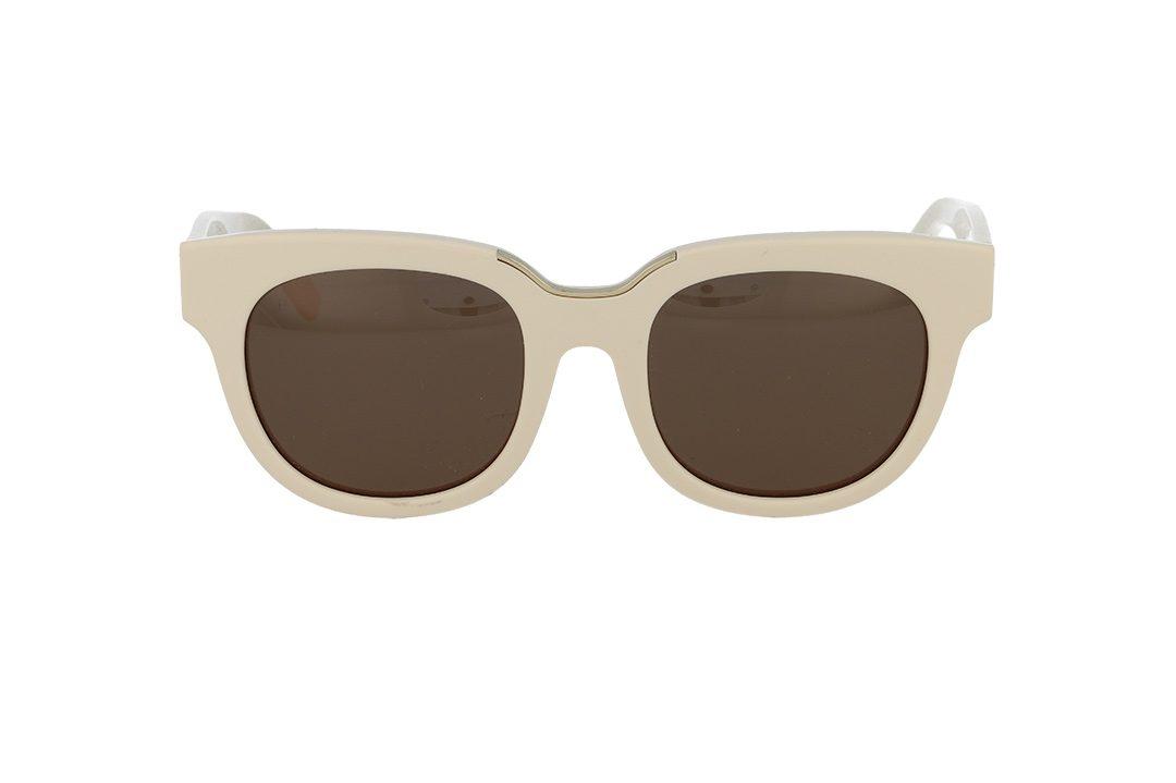 משקפי שמש מבית COOLRAY במסגרת מרובעת בגוון שמנת ועדשות בגוון חום