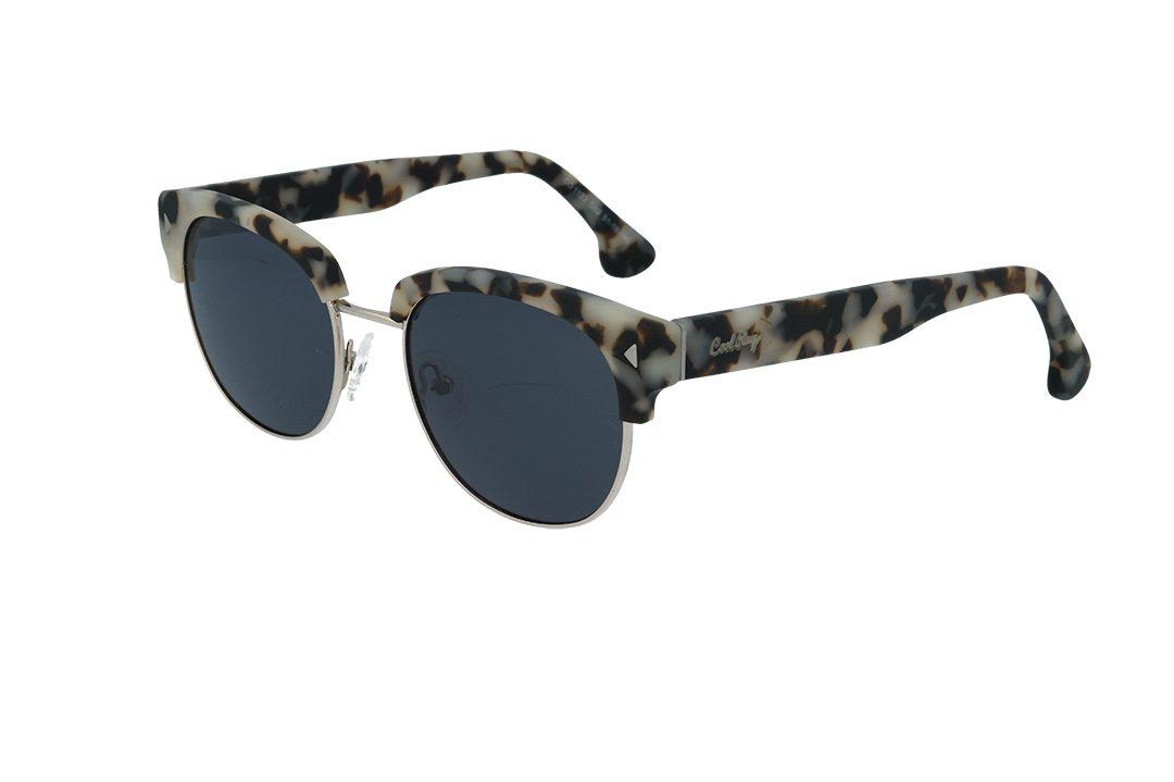 משקפי שמש מבית COOLRAY במסגרת מנומרת בשילוב מתכתעם עדשות אפורות
