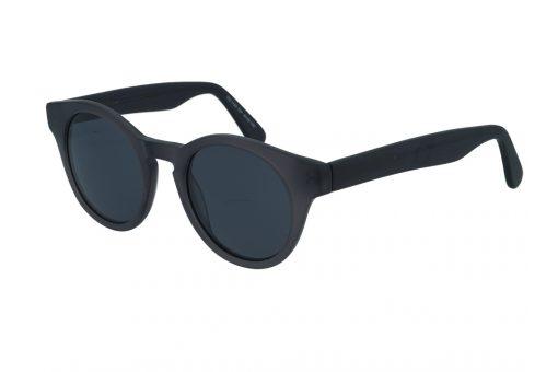 משקפי שמש מבית COOLRAY במסגרת עגולה בגוון אפור עם עדשות מראה כסופות