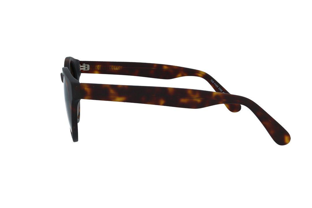 משקפי שמש מבית COOLRAY במסגרת עגולה בגוון מנומר עם עדשות חומות