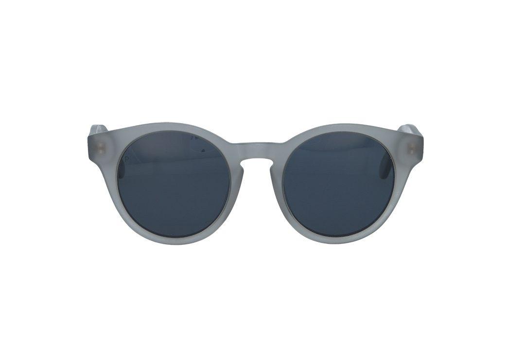משקפי שמש מבית COOLRAY במסגרת עגולה בגוון אפור שקוף עם  עדשות אפורות