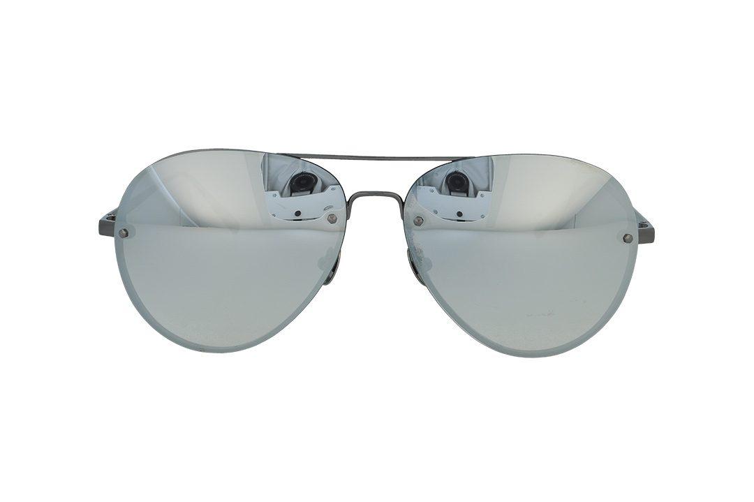משקפי שמש מבית COOLRAY במסגרת טייסים כסופה בעלת עדשות מראה כסופות