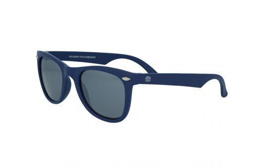 משקפי שמש לילדים מבית Erroca Eyewear בדגם מרובע בגוון כחול ועדשות מראה בגוון אפור מתאים לגילאים 0-5