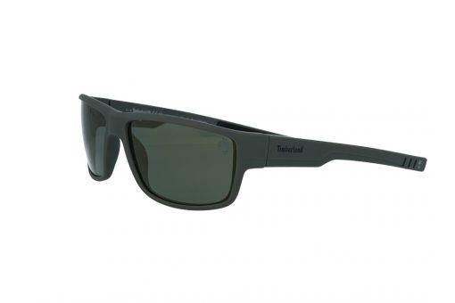 משקפי שמש טימברלנד Timberland בדגם מרובע בגוון אפור מט ועדשות פולארויד בגוון מראה זהוב