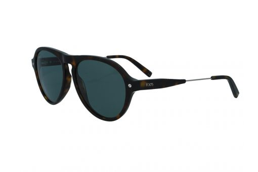 משקפי שמש טודס TOD'S בדגם טייסים בגוון מנומר כהה ועדשות תואמות