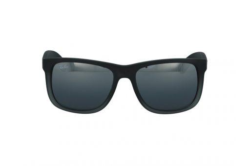 משקפי שמש מבית Ray Ban בדגם ג'סטין קלאסי בגוון אפרור מט ועדשות מראה