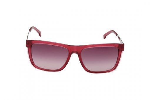 משקפי שמש מבית LACOSTE בדגם מרובע נשי בגוון אדום ועדשות תואמות