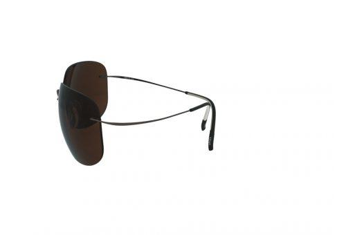 משקפי שמש מבית Silhouette בדגם גברי קמור עם זרועות גמישות ועדשות בגוון חום