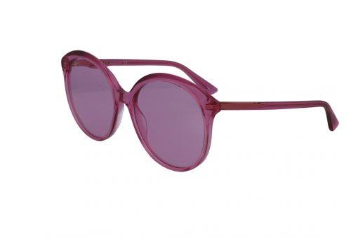 משקפי שמש מבית Gucci בדגם אובר סייז חתולי בגוון ורוד ועדשות תואמות