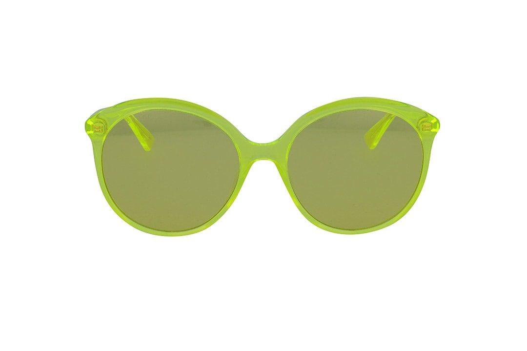 משקפי שמש מבית Gucci בדגם אובר סייז חתולי בגוון צהוב ועדשות תואמות