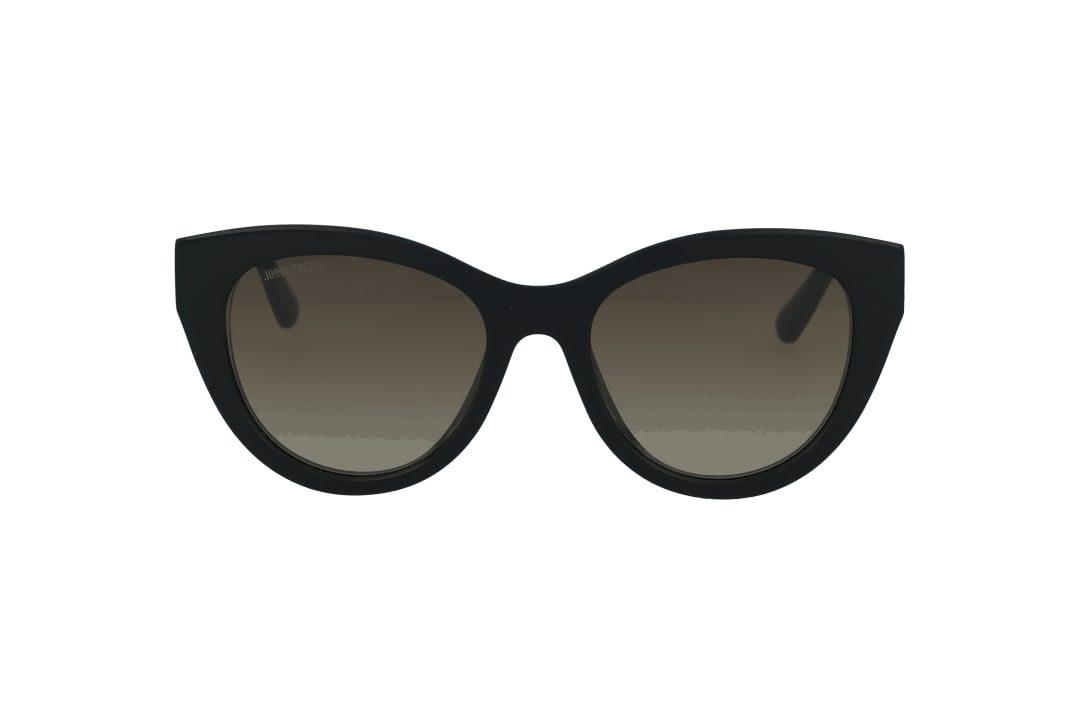 משקפי שמש מבית Jimmy Choo בדגם אובר סייז חתולי עם עיטור צמה בזרועות