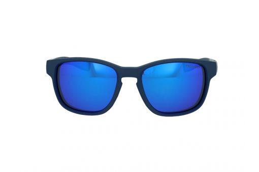 משקפי שמש מבית JULBO בדגם מרובע קמור בגוון כחול ועדשות מראה תואמות
