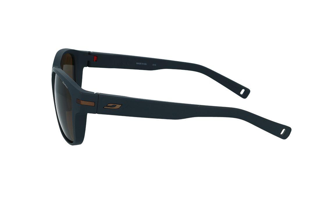 משקפי שמש מבית JULBO בדגם גברי מרובע בגוון שחור מט ועדשות בגוון חום