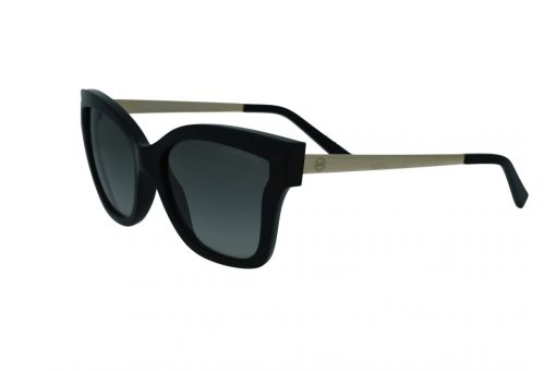 משקפי שמש מבית Michael Kors בדגם גיאומטרי בגוון שחור וזהב