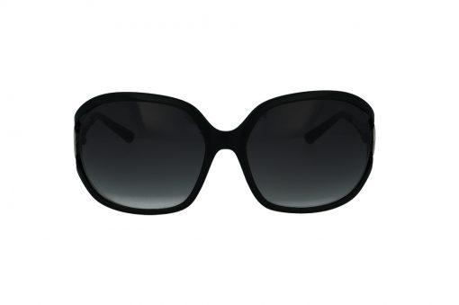 משקפי שמש מבית Guess בדגם אובר סייז מרובע בגוון שחור וזרועות בעיצוב זברה עם עדשות תואמות