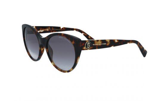 משקפי שמש מבית Marc Jacobs בדגם אובר סייז חתולי בגוון מנומר ועדשות בהירות מדורגות
