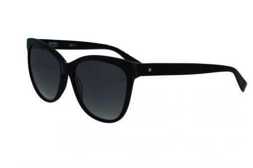 משקפי שמש מבית Max Mara בדגם אובר סייז בגוון שחור עם סיומת כסופה ועדשות מדורגות