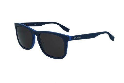 משקפי שמש מבית BOSS ORANGE בדגם גברי מרובע בגוון כחול עם עדשות תואמות