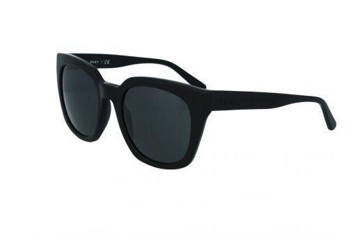 משקפי שמש מבית Dkny בדגם אובר סייז חתולי בגוון שחור ועדשות תואמות