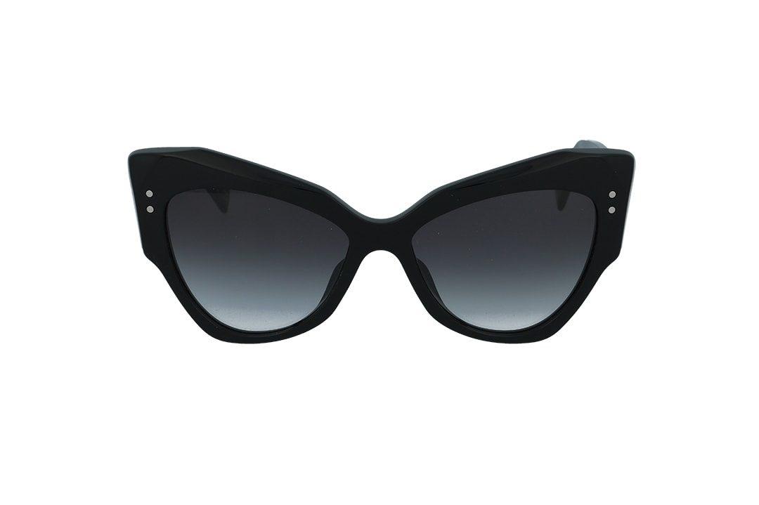 משקפי שמש מבית Marc Jacobs בדגם אובר סייז גיאומטרי חתולי בגוון שחור ועדשות תואמות