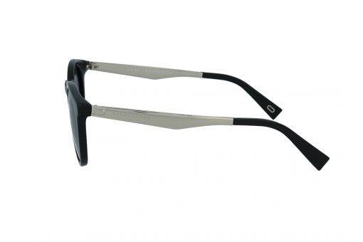משקפי שמש מבית Marc Jacobs בדגם עגול קלאסי בגווני שחור וזהב ועדשות תואמות